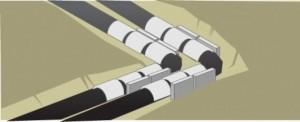 Schéma coussins de dilatation