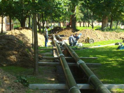 Installation de tubes pré-isolés