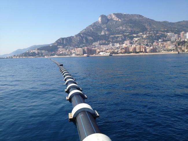 Canalisation d'eau de mer pour la climatisation de l'hôpital de Monaco