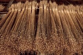 Usage des anas de lin en tant que combustible pour chauffer les bâtiments
